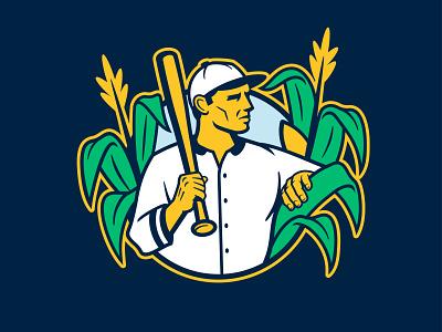 Baseballism X Field of Dreams apparel character design baseball badge illustration mascot sports logo