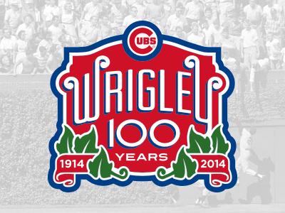 Wrigley Field 100th Anniversary wrigley ivy patch baseball cubs logo