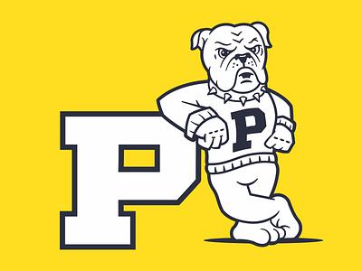 BULLDOG MASCOT dog sports mascot bulldog