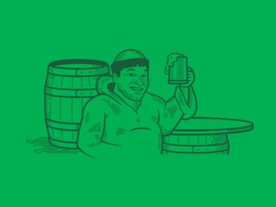 Vertigo Brewing - Friar Mikes India Pale Ale brewing label illustration beer