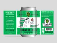 Vertigo Brewing - Friar Mikes India Pale Ale can
