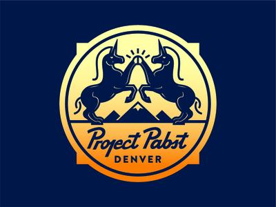 Project Pabst illustration logo badge pabst crest beer