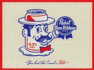 Pabst pabst design illustration brewing mascot beer