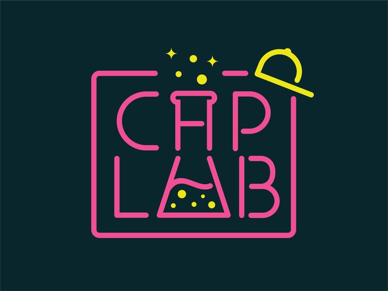 Cap Lab logo typography logo lab signage monoline hat cap neon