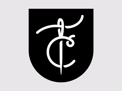 TC Monogram type needle badge seal monogram logo monogram thread
