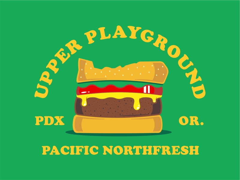 Upper Playground Portland apparel design pdx shirt design vector illustration logo