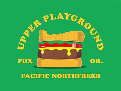 Upper Playground Portland apparel design pdx shirt design vector illustration logo