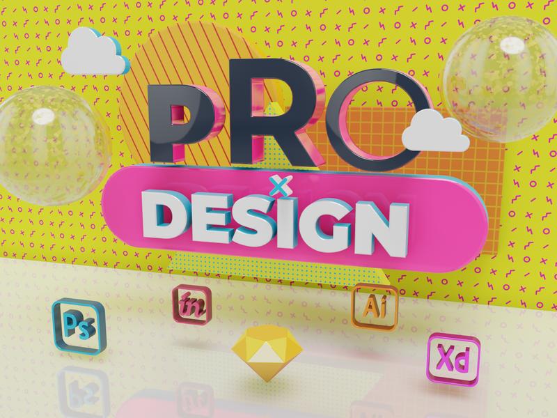 ProDesign Conference Banner blender 3d 3d art