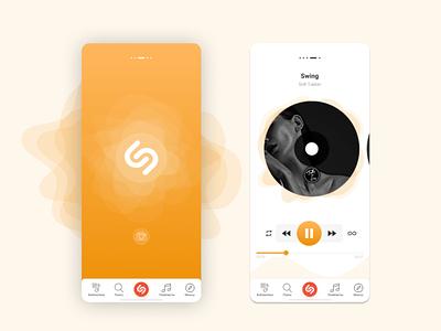 Shazam Redesign mobile orange redesign ux ui