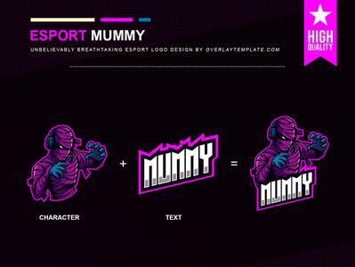 Logo Mummy illustration esport esportlogo branding social media earphone mummy