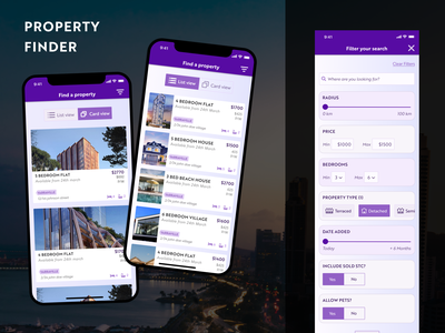 Property Finder design web design app real state property