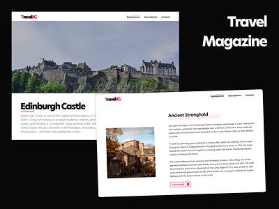 Travel Magazine travel clean modern web design magazine editorial