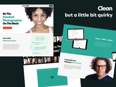 Clean and Quirky quirky clean web design