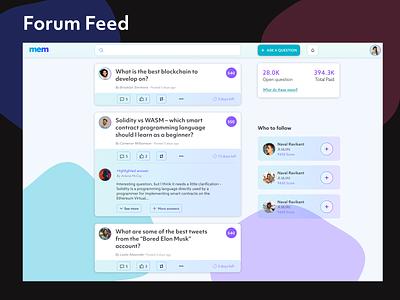 Social Media Feed feed modern clean web design