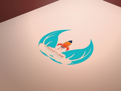 Rocket Leaf Logo Design