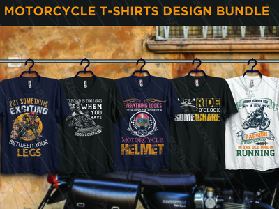 Motor Cycle T shirts design Bundle