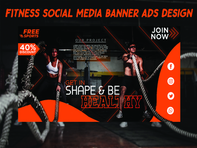 Fitness Banner Design for Social Media