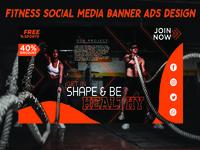 Fitness Banner Design for Social Media