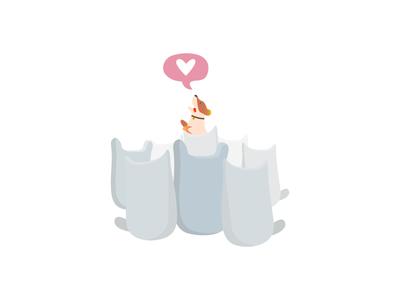 Volunteering icon illustration volunteering love corgi dog