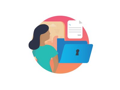 Privacy Policy cityscape character icon gdpr policy privacy