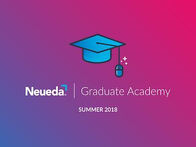 Grad Academy icon illustration academy mouse hat graduate