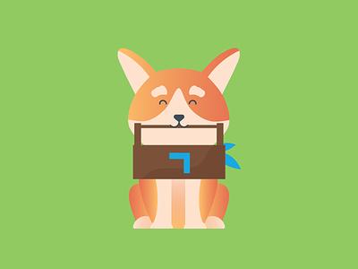 Nobby Fixes gradient illustration mascot icon tools corgi dog
