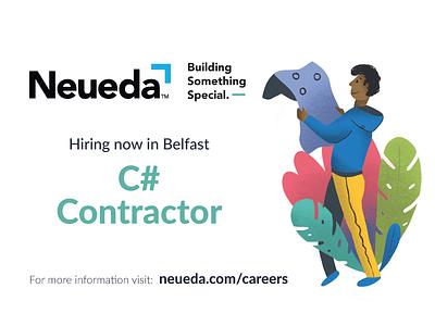 Recruitment pro create ipad vector trees characters character illustration job recruitment