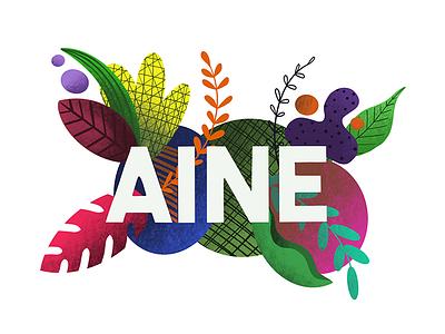 Aine Brand logo design ui floral procreate ipad illustration branding brand