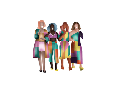 ice cream girls icon branding ui team characters character illustration