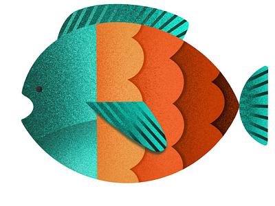 Fish sea ipad fish procreate icon illustration
