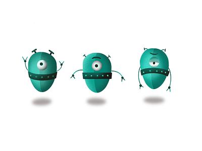 Aliens mascot alien character branding icons icon illustration