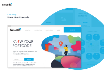 Postcode web design data visulization data webs design website ux ui character icon illustration