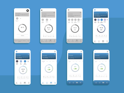 design process app design smart home wireframes ux ui