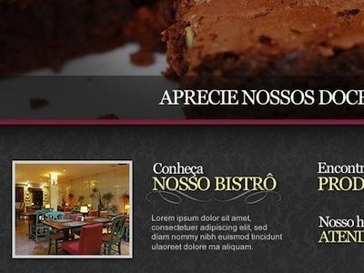 Bistrô website interface design web