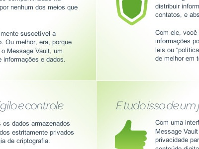 Square Content green icons blue text