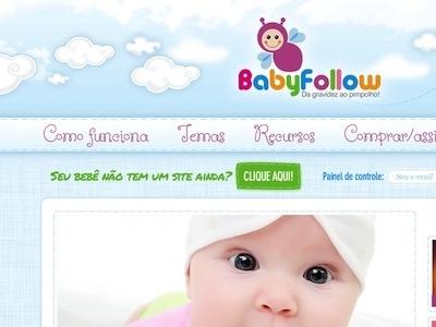 Babyfollow child layout ui design