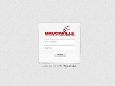 Brucaville login ui layout design