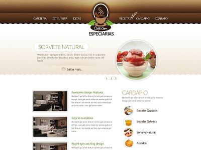 Cafe com Especiarias cafe ui layout design