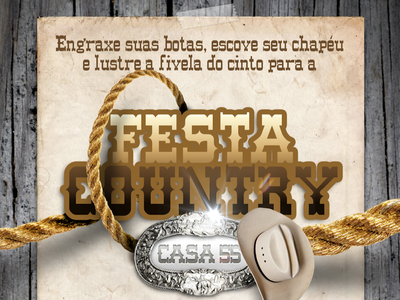 Country Party country invitation design