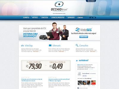 Occhio Brasil layout design interface ui