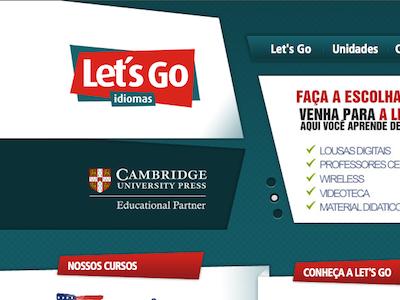Let's Go Idiomas ui design layout web