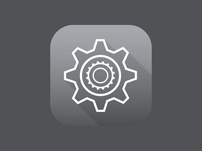 CareCloud App Icon - Settings carecloud app icon flat long shadow