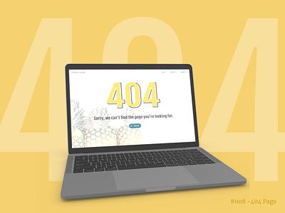 Error 404 - Web Page Design website web design yellow 404 page ui design design daily ui challenge dailyui