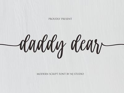daddy dear minimal logo illustrator illustration vector typography lettering icon font design branding