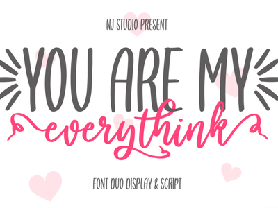 you are my everythink font duo logo web illustrator illustration vector typography lettering icon font design branding