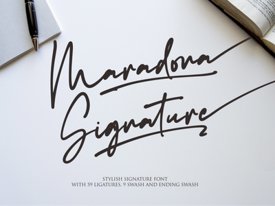 Maradona Signature illustrator ux ui logo illustration vector typography lettering icon font design branding