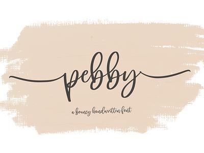 pebby app animation website minimal logo illustrator illustration vector typography lettering icon font design branding