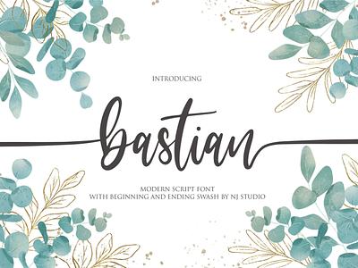 bastian logo illustrator illustration vector typography lettering icon font design branding