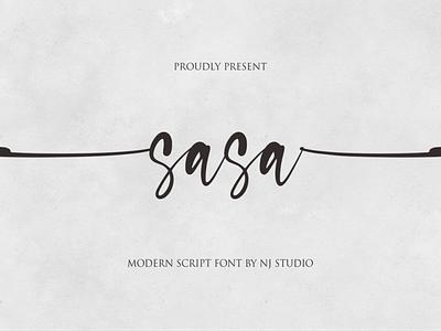 sasa ui logo illustration vector typography lettering icon font design branding