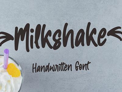 Milkshake logo illustration motion graphics graphic design 3d animation ui vector typography lettering icon font design branding